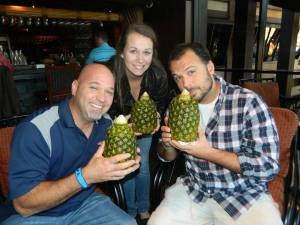 This is me and Jeff (my brother) and Shannon (my niece) and Lapu Lapu (one of my bestest friends.