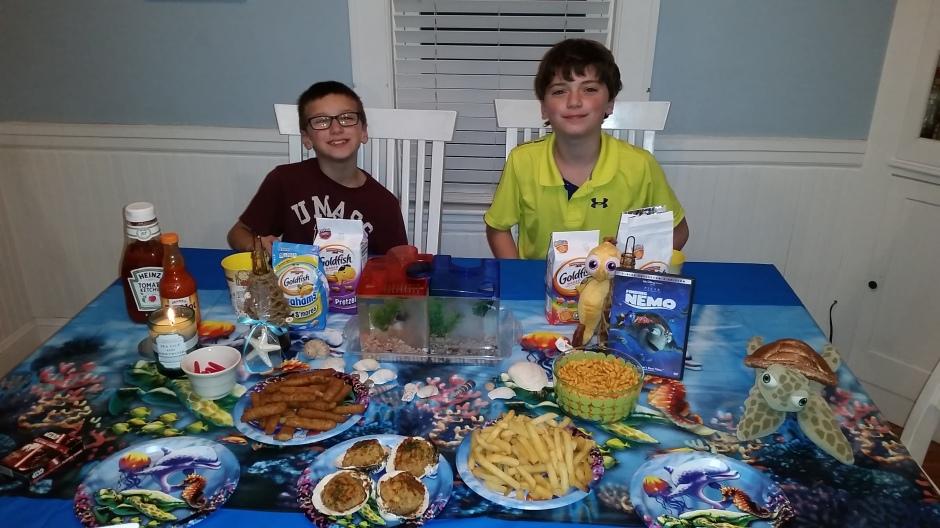 kids at table