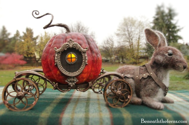 cinderella-pumpkin-carriage-needle-felted-rabbit-by-beneaththeferns
