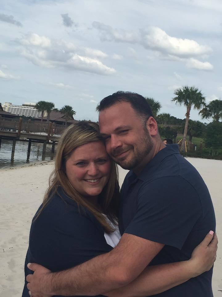 Nickie and Wayne on beach