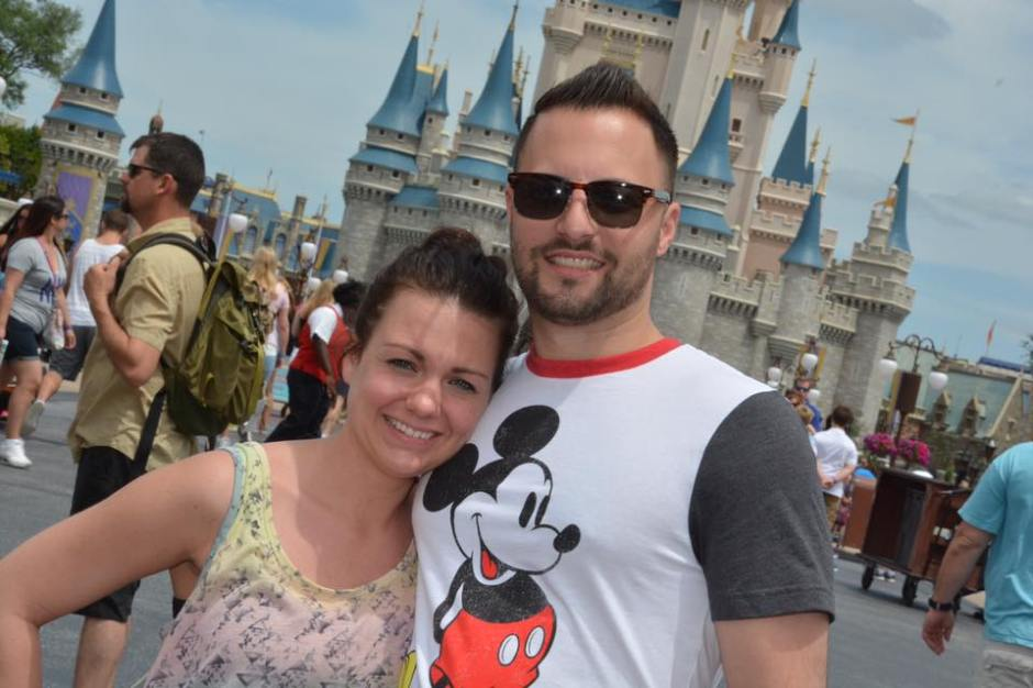 Steph and Mikey at castle