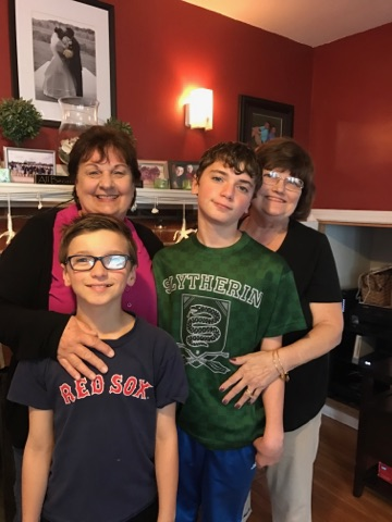 grandparents and boys