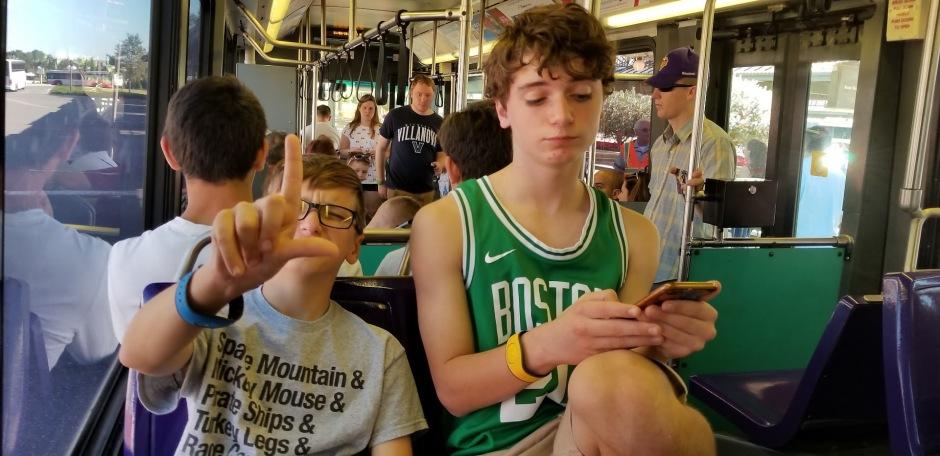 BOYS ON BUS