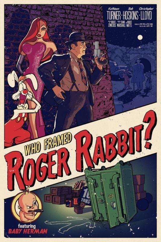 ROGER RABBIT POSTER DAY 9 CA TRIP PRE TRIP